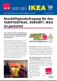 Flugblatt zur Beschäftigtenbefragung bei IKEA