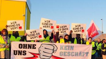 Streiks bei Amazon in Graben am 18. April 2019