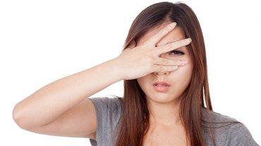 Auge Frau Asien Asiatin Hand Rechts