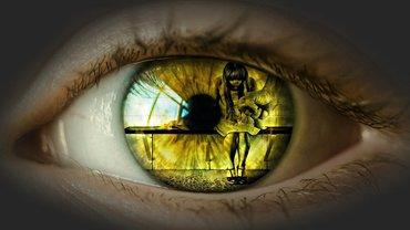 Gewalt Frau Kind Mädchen Auge