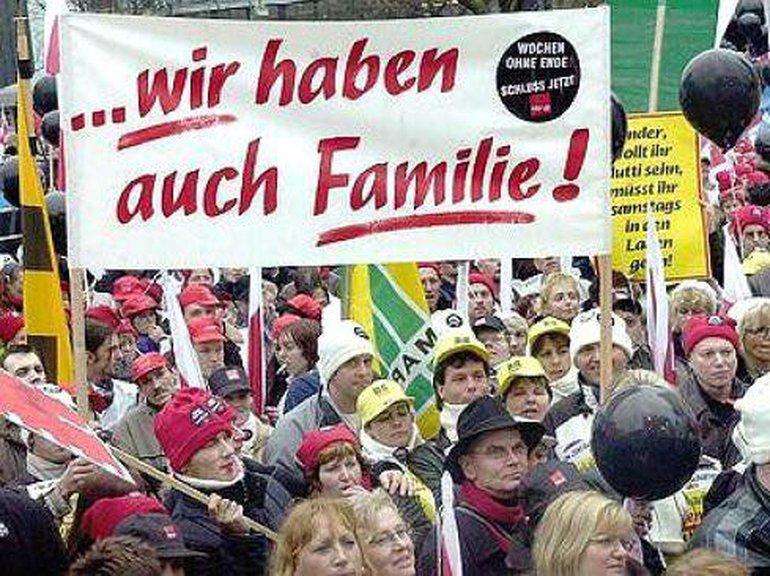 Demonstration für den verkaufsfreien Sonntag