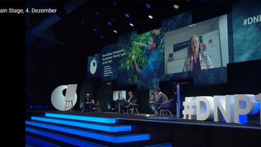 Stefanie Nutzenberger wurde per Video zum Launch der Partnerschaft für nachhaltigen Orangensaft zugeschaltet