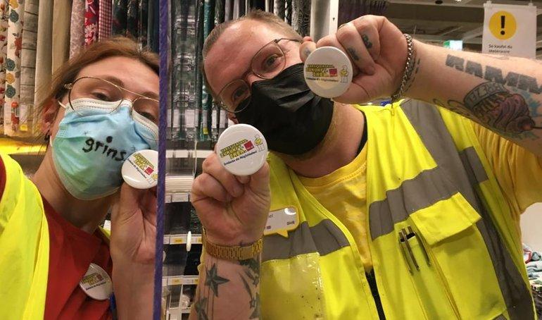 Ikea-Kolleginnen und -Kollegen fordern Verhandlungen über den Tarifvertrag. Zukunft. IKEA