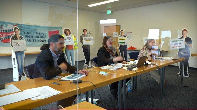 Die Tarifkoordinierungskonferenz des Einzel- und Versandhandels am 18. März 2021