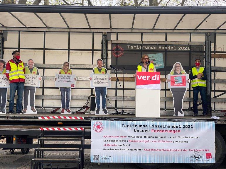 Streikkundgebung am 11. Mai 2021 in Köln