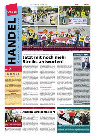 Titelseite der HANDEL Nr. 2/2021