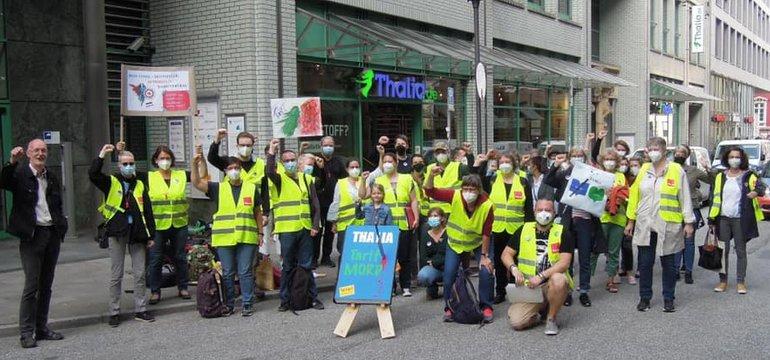 Zweitägiger Streik gegen Tarifflucht bei Thalia in Hamburg