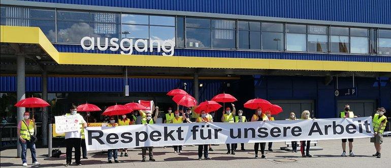 Tarifrunde 2021: IKEA-Beschäftigte fordern Respekt für ihre Arbeit