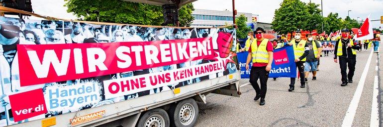 Streikdemonstration in Erching am 30. Juli 2021