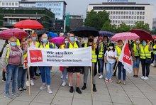 Streik am 6. August 2021 bei Marktkauf in Bielefeld