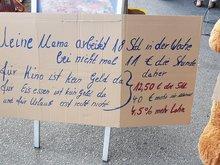 Streikende bei Kaufland in Moosbach