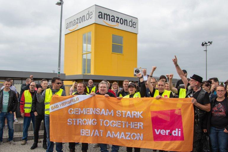 Streiks zum Prime-Day bei Amazon in Bad Hersfeld (15.07.2019)