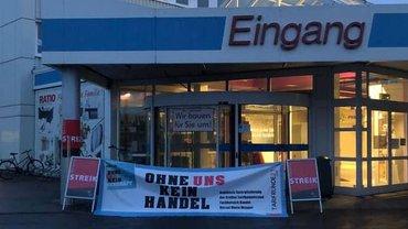 Streik am 2. Oktober 2021 bei Ratio Marktkauf in Ratingen