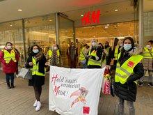 Streik am 11. Oktober 2021 bei H&M in Erlangen