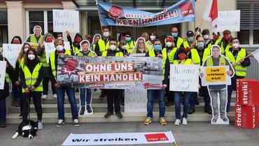 Ab dem 19. Oktober 2021 streikten die Beschäftigten bei Netto und im Norma-Zentrallager in Regensburg